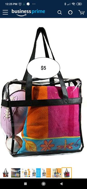 Deluxe Clear Tote for Sale in Deerfield Beach, FL