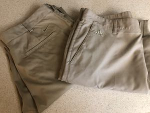 NIKE & ADIDAS GOLF LONG PANTS FOR MENS SIZE 34-32! Like new! No stains -smoke free home for Sale in Largo, FL