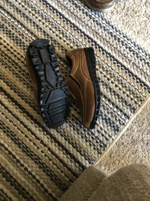 Boys brown slip on shoes size 3.5 brand new for Sale in Vallejo, CA