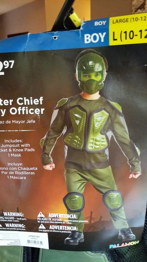 Master Chief Petty officer boy costume large 10 to 12 for Sale in Prior Lake, MN