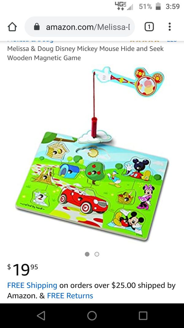 Disney Mickey mouse clubhouse magnetic magnet puzzle toy game