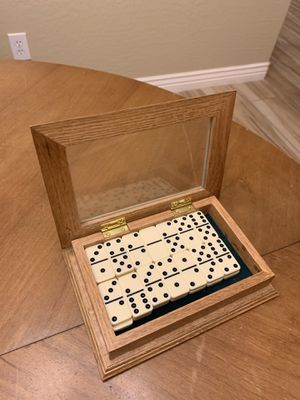 Dominos set in wood and glass case for Sale in Surprise, AZ