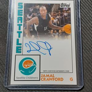 Jamal Crawford Topps Autographed card for Sale in Bellevue, WA