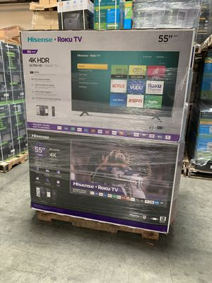 55 4K SMART UHD HISENSEE TVS ROKU for Sale in Pomona, CA