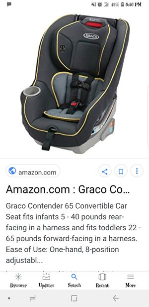 Graco Contender 65 Convertible Car Seat for Sale in Columbus, OH