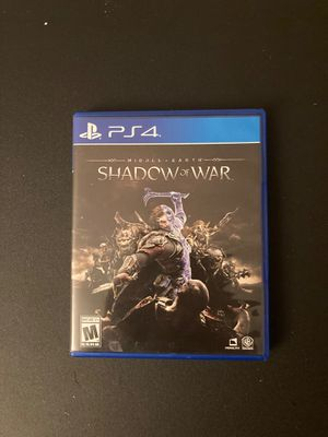 Middle-Earth Shadow of War for Ps4 for Sale in Riverside, CA