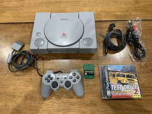 Sony PlayStation PS1 Original Console SCPH-9001 Memory Card Controller 1 Game for Sale in Newark, CA