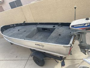 Alumacraft Boat with motor and trailer for Sale in Henderson, NV