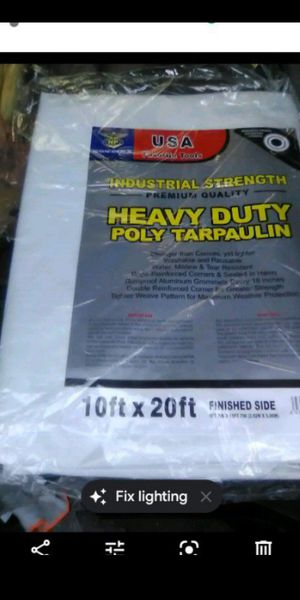 10x20ft. Heavy duty industrial white tarp new $25.00 for Sale in Los Angeles, CA