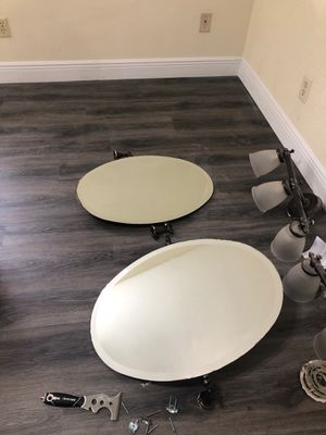 Oval wall mounted mirrors for Sale in Dallas, TX