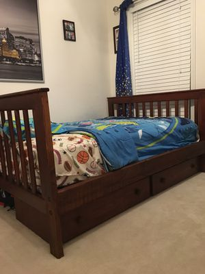 Bunk bed full/twin with storage - $300 for Sale in Ashburn, VA
