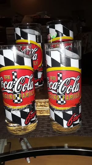 VINTAGE RARE 1960S COCA COLA RACING FAMILY COLLECTABLE GLASSES for Sale in undefined