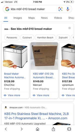 KBS MBF-010 Bread maker NEW! for Sale in Gilbert, AZ