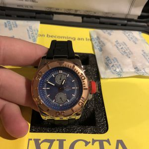 Invicta Copper Dial Blue Face Watch for Sale in Las Vegas, NV