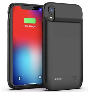 Battery Case for iPhone XR, Slim Protective Charger Case for iPhone XR Extended Battery Case, 5000mAh Rechargeable Charging Case Compatible with iPho for Sale in Alhambra, CA
