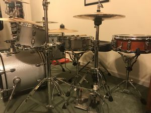 Drum Set, Ludwig Breakbeats and Taye Drums, Pearl PDP and Gibraltar Hardware, Paiste and Sabian Cymbals for Sale in Baltimore, MD