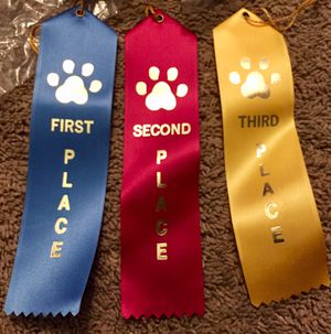 Satin Dog Show Award Ribbons $10 or best for Sale in Stockton, CA