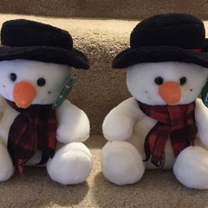 Two Build-A-Bear Snowman Stuffed Animals for Sale in Burtonsville, MD