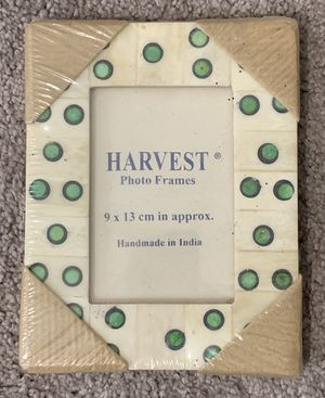 New Sealed Handmade Harvest Stone Photo Picture Stand Frame Home Decoration Accent for Sale in Chapel Hill, NC