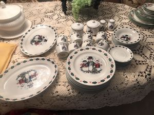 Christmas dishes for 8 people price firm for Sale in Arlington, TX