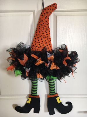 New Handmade Halloween Witch Wreaths for Sale in Rancho Santa Margarita, CA