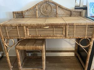 Wicker dressing table and stool for Sale in Lynchburg, VA