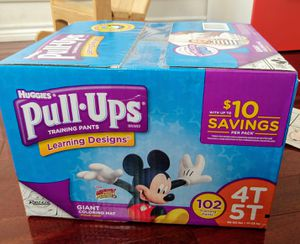 Huggies pullups training pants 4T-5T(102 pants for Sale in Fort Worth, TX