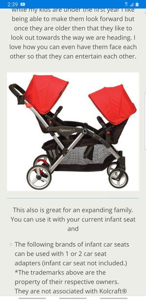 Double contour stroller for Sale in Grand Prairie, TX