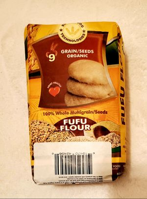 Bogat Food Technologies 9 GRAIN/SEEDS ORGANIC FUFU FLOUR (2 Lbs.) CASE of 8 for Sale in Gaithersburg, MD