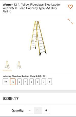 12ft ladder for Sale in Suwanee, GA