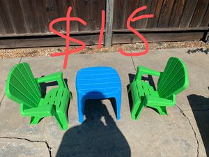 Kids beach chair and table sets for Sale in Saratoga, CA