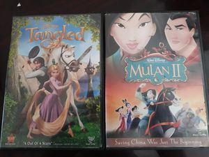 2 Disney's DVD: Tangled & Mulan II for Sale in Miami, FL