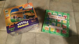 Puzzles and match game for kids for Sale in Federal Way, WA