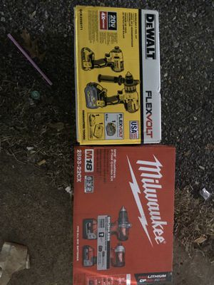 Dewalt and Milwaukee drill sets for Sale in Memphis, TN