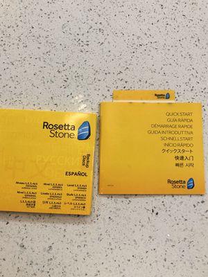 Rosetta Stone Spanish (Latin America) Level 1-5 - PC copy for Sale in Ridgefield, WA