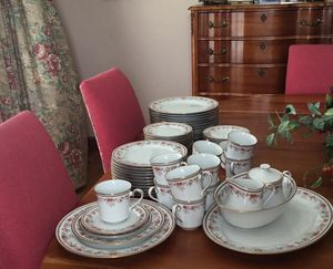 Lenox China 64 pieces 12 place settings, sugar and creamer platter and bowl. for Sale in Abingdon, VA
