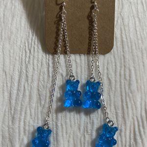 Handmade Chain Gummy Bear Dangle Earrings for Sale in Portland, OR