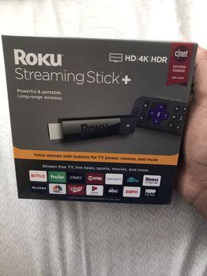Roku 4K streaming stick+ for Sale in Santa Clara, CA