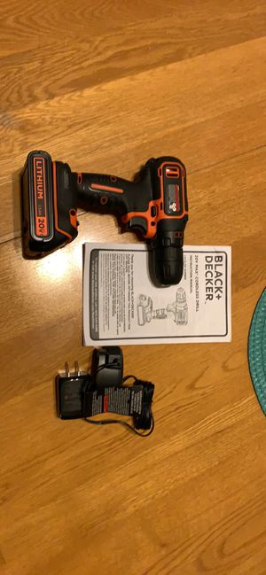 Black and decker cordless drill for Sale in Evansville, IN