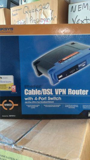 Ethereal Cable/DSL VPN Router, 4-port switch for Sale in Rancho Cucamonga, CA
