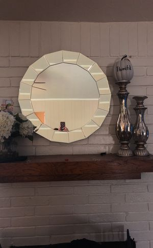 Wall mirror and candle holders for Sale in Deer Park, TX