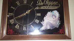 Vintage dr pepper clock, mirror for Sale in Clemmons, NC