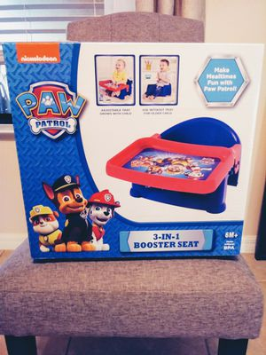 **Brand new**Paw Patrol 3 in 1 booster seat for Sale in Clermont, FL
