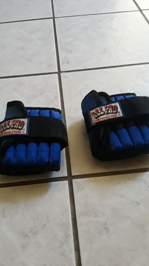All pro ankle weights 5 lbs. Each one 10lbs. Total. for Sale in Long Beach, CA