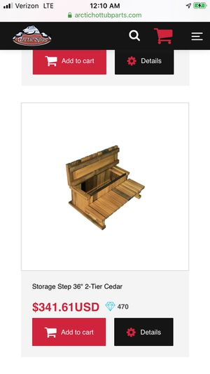 Cedar hot tub steps with storage (unassembled) for Sale in Seattle, WA