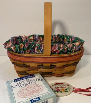 Longaberger Oblong Easter Basket Liner Protector Tie-on 95/97 for Sale in Snohomish, WA