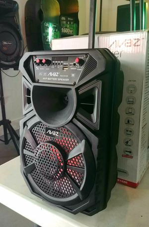 "Party speaker. 8"" woofer. Rechargeable battery. Bluetooth. USB and Aux connection. LED lights. Brand New. Nuevos. for Sale in Miami, FL"