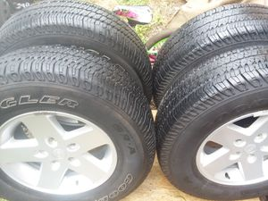 Jeep wheels and tires for Sale in San Antonio, TX