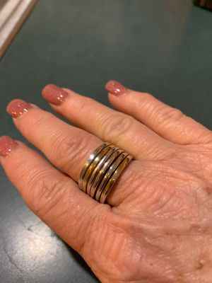 Ring. Silver and gold tone. for Sale in Slingerlands, NY