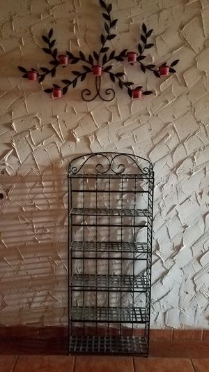 Iron shelves & iron art deco for Sale in Alvarado, TX